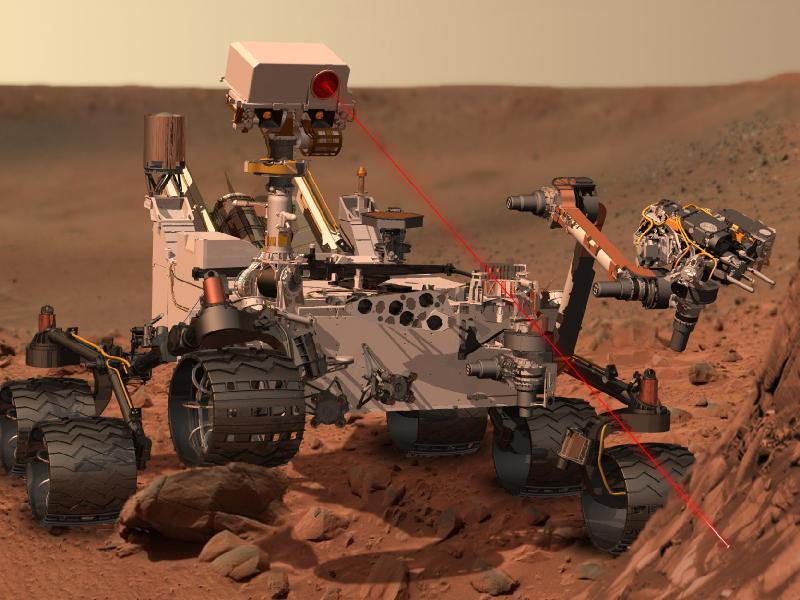 Artist's impression of Curiosity rover on Mars
